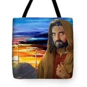 Jesus Sees Us Tote Bag