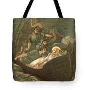 Jesus Sleeping During The Storm Tote Bag by John Lawson