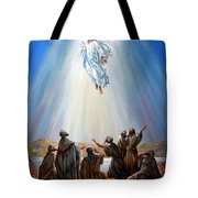 Jesus Taken Up Into Heaven Tote Bag