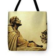 Jesus Teach Us To Pray - Christian Art Prints Tote Bag