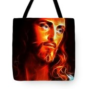 Jesus Thinking About You Tote Bag by Pamela Johnson