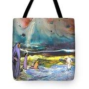Jesus Walking On The Water Tote Bag