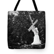 Jesus With Cross Tote Bag