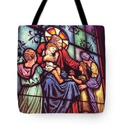 Jesus With The Children Tote Bag