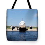 Jet Aircraft Rendering. Tote Bag