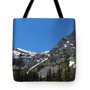 Jet And Mountain Tote Bag