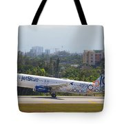 Jet Blue Blues Brothers Tote Bag