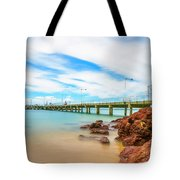 Jetty By The Sea Tote Bag