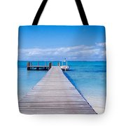 Jetty On The Beach, Mauritius Tote Bag