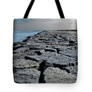 Jetty Over The Coast Tote Bag