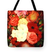 Jewel Flowers Tote Bag