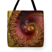 Jewel Gold  Fractal Spiral  Tote Bag
