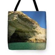 Jewel Toned Ocean Art - Colorful Sea Cave In Algarve Portugal Tote Bag