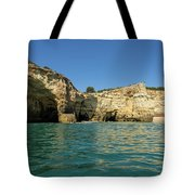 Jewel Toned Ocean Art - Gliding By Sea Caves And Secluded Beaches Tote Bag
