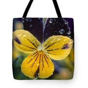 Jewelled Pansy Tote Bag