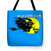 Jewish Halloween Witch Tote Bag