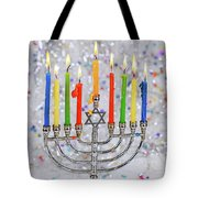 Jewish Holiday Hannukah Symbols - Menorah Tote Bag