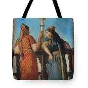 Jewish Women At The Balcony In Algiers Tote Bag