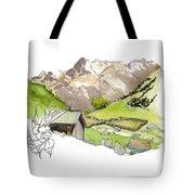 High Pastures,   Col De La Cayolle Tote Bag
