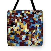 Jigsaw Abstract Tote Bag