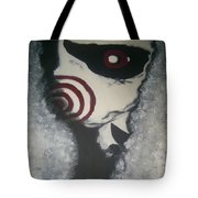 Jig, Saw, Face Tote Bag