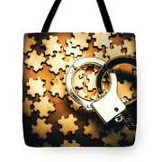 Jigsaw Of Misconduct Bribery And Entanglement Tote Bag