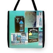 Jim Beam Signs On Display - Color Invert Tote Bag