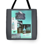 Jim Beam's Old Crow And Red Stag Signs - Color Invert Tote Bag