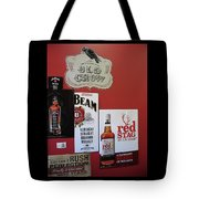 Jim Beam's Old Crow And Red Stag Signs Tote Bag