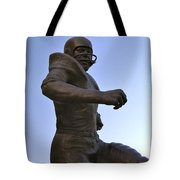 The Jim Brown Statue, Cleveland Browns Nfl Football Club, Cleveland, Ohio, Usa Tote Bag