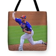 Jim Henderson New York Mets Pitcher Tote Bag