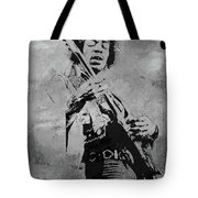Jimi Hendrix Pop Star  Tote Bag