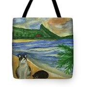 Jimmy And Jessie At Beach Tote Bag
