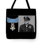 Jimmy Doolittle And The Medal Of Honor Tote Bag by War Is Hell Store