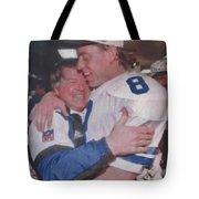 Jimmy Johnson Troy Aikman Tote Bag