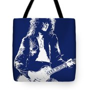 Jimmy Page In Blue Portrait Tote Bag