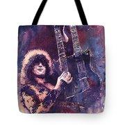 Jimmy Page  Tote Bag by Yuriy  Shevchuk
