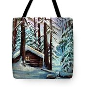 Jimmy's Cabin Tote Bag