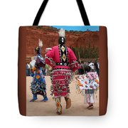 Jingle Dress And Fancy Shawl Dancers Tote Bag