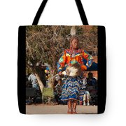 Jingle Dress Dancer At Star Feather Pow-wow Tote Bag