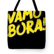Jiu Jitsu Design Vamo Bora Yellow Light Martial Arts Tote Bag