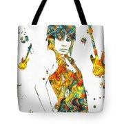 Joan Jett Colorful Paint Splatter Tote Bag