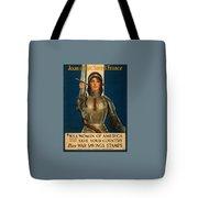 Joan Of Arc World War 1 Poster Tote Bag
