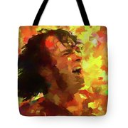 Joe Cocker Colorful Palette Knife Tote Bag