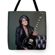Joe Perry Of Aerosmith Painting Tote Bag