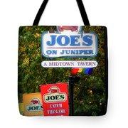 Joe's On Juniper Tote Bag