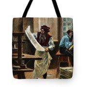Johann Gutenberg Tote Bag