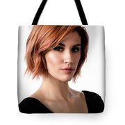 Johanna In Black Broad Tote Bag