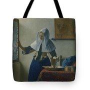 Johannes Vermeer Young_woman Tote Bag
