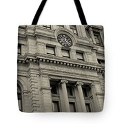 John Adams Courthouse Boston Ma Black And White Tote Bag